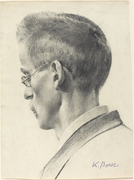 Profile of a Man Wearing Spectacles