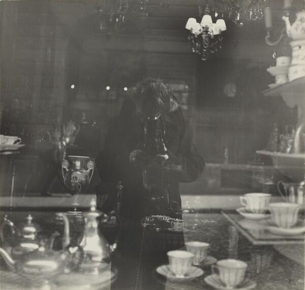 Self-Portrait in Antique Shop Window, rue de l'Odéon, Paris