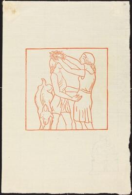 First Book: Chloe Puts a Chaplet Upon Daphnis' Head (Chloe met une couronne sur le tete de Daphnis)