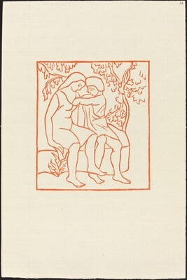 First Book: Daphnis Draws the Grasshopper from Chloe's Bosom (Daphnis met la main dans le sein de Chloe pour en retirer une cigale)