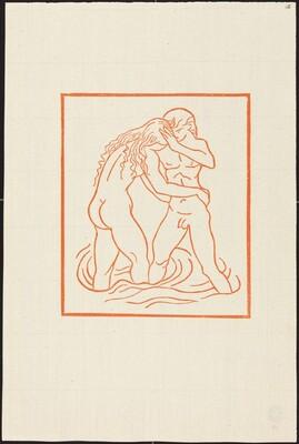 First Book: Chloe Casting Daphnis into Her Arms (Daphnis et Chloe se lavent ensemble dans la caverne des nymphes)
