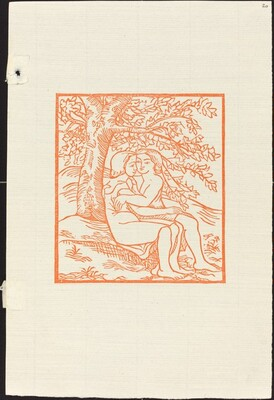 Second Book: Daphnis and Chloe Sitting Close Together (Daphnis et Chloe assis sous unchene et s'embrassant)