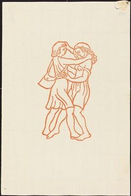 Second Book: Daphnis and Chloe Run Smiling Together (Daphnis et Chloe courent l'un vers l'autre