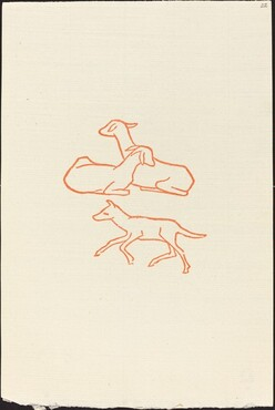 Second Book: Three Goats, Third Plate (Chevreaux, troisieme planche)