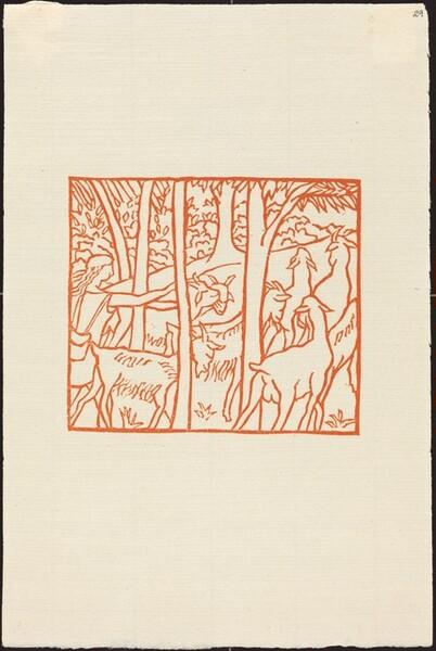 Second Book: Daphnis Driving Home His Flock (Daphnis ramene ses betes a l'etable)