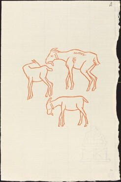 Third Book: Three Goats, Fifth Plate (Chevreaux, cinquieme planche)