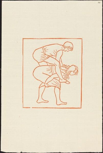 Fourth Book: Daphnis and Chloe at Play (Daphnis monte sur le dos de Chloe)