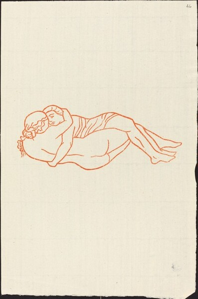 Fourth Book: Daphnis and Chloe Lying Together, Second Variant (Daphnis et Chloe couches ensemble, deuxieme variante)