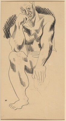Seated Male Nude [verso]