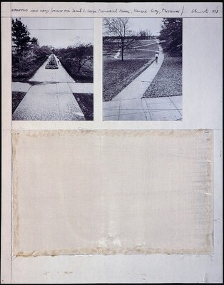 Wrapped Walk Ways, Project for Jacob L. Loose Memorial Park, Kansas City, Missouri [left panel]