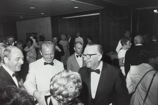 John Glenn--Walter Cronkite, State Dinner for Apollo XI Astronauts, Century Plaza Hotel, Los Angeles