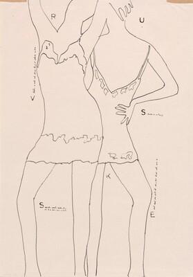 Two Girls in Slips