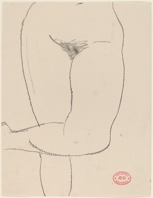 Untitled [torso of a nude with her legs crossed]