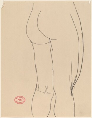 Untitled [legs and buttocks of a female nude]
