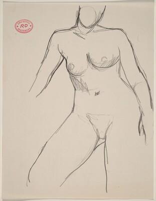 Untitled [contrapposto female nude]