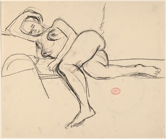 Untitled [female nude resting] [recto]