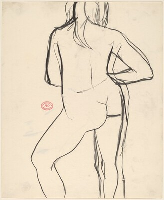 Untitled [back view of a female nude in contrapposto]