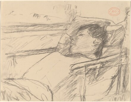 Untitled [woman lying back with arms behind head]