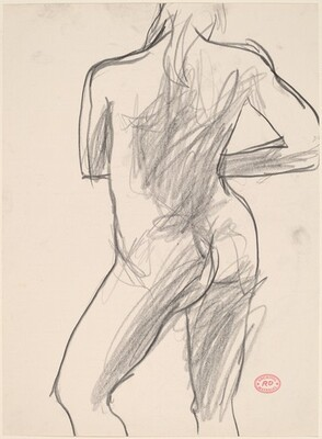 Untitled [rear view of nude in contrapposto]