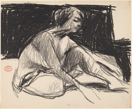 Untitled [seated woman leaning forward]