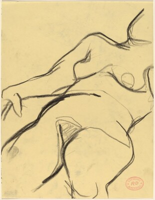 Untitled [torso of a reclining female nude]