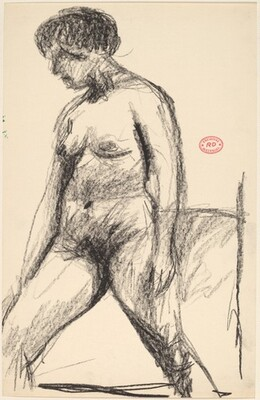 Untitled [nude standing with her legs apart]