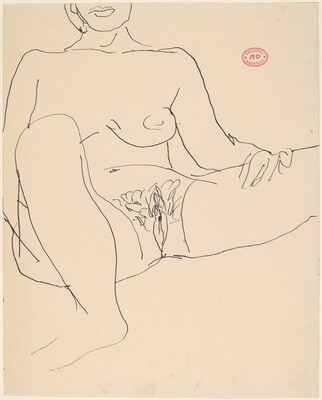 Untitled [seated nude with her legs apart]