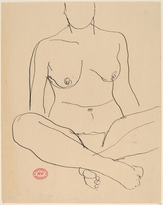 untitled [seated nude crossing her legs at the ankles]