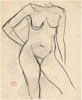 Untitled [female nude with right arm akimbo]
