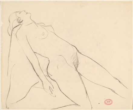 Untitled [female nude leaning back]