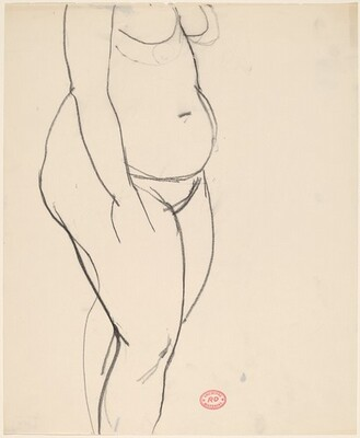 Untitled [standing female nude: chest to shin]