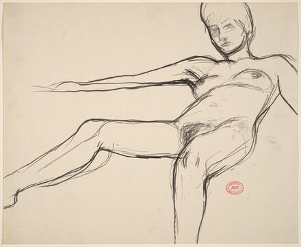 Untitled [female nude lying back]