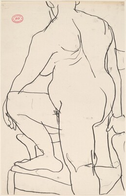 Untitled [female nude with right leg on chair]
