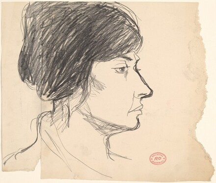 Untitled [profile head of a woman]