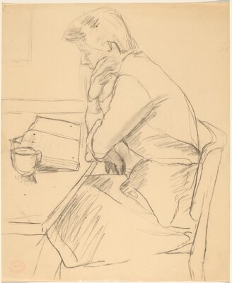 Untitled [woman reading]