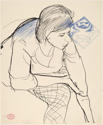Untitled [woman leaning forward]