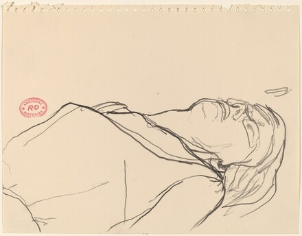 Untitled [head of a reclining figure]