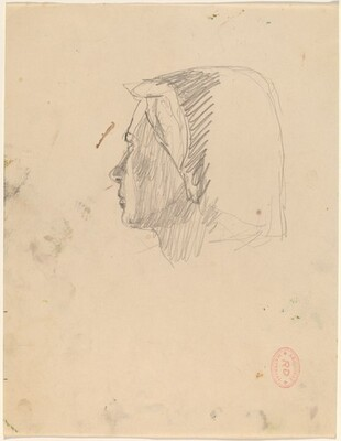 Untitled [head of a woman turning away]