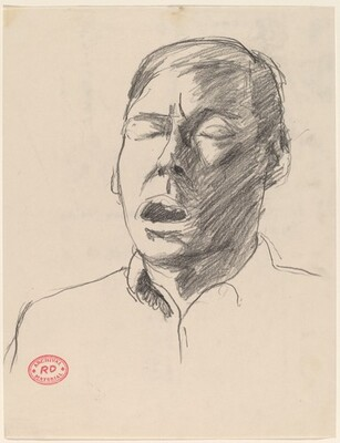 Untitled [head of man with open mouth]
