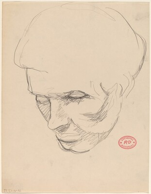 Untitled [head study]