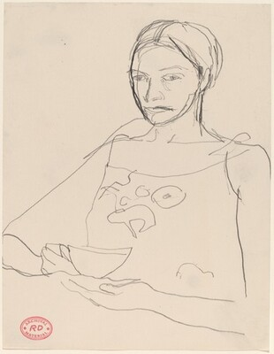 Untitled [woman holding a cup]
