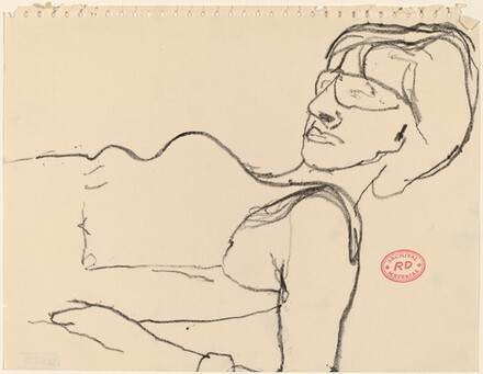 Untitled [woman reclining in glasses]