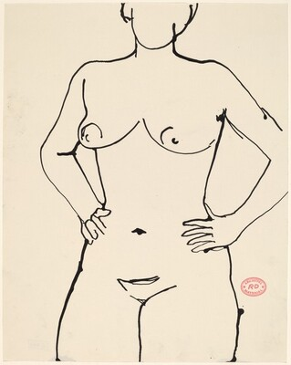 Untitled [nude with hands on her hips]