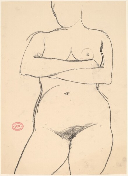 Untitled [standing nude with her arms crossed]