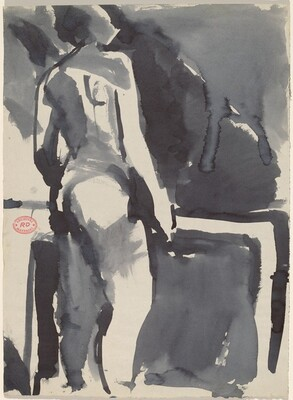 Untitled [standing female nude with back to viewer]