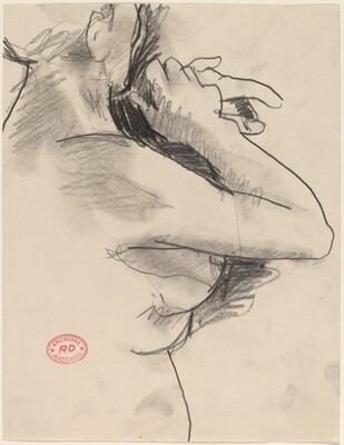 Untitled [female nude with arms raised]