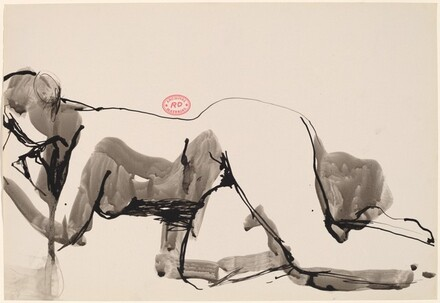 Untitled [nude lying on her side with left hand to cheek]