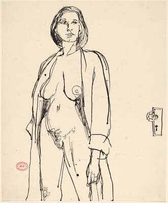 untitled [standing female nude with open robe]