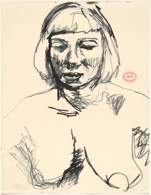 Untitled [bust of a female model]