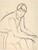 Untitled [seated woman leaning forward] [recto]